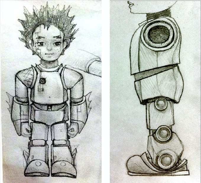 Early concept sketches.