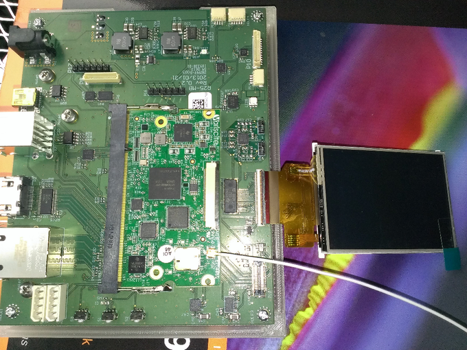 First version of the R25 Mainboard & Processor which we used to verify the electrical design.