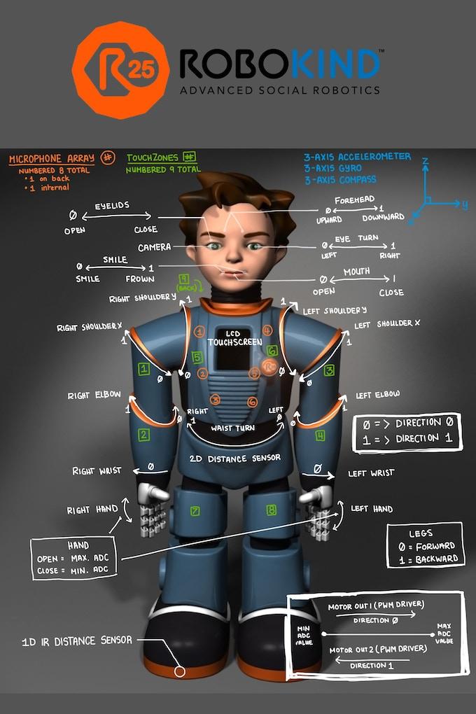 Zeno R25 Motor and sensor layout and locations