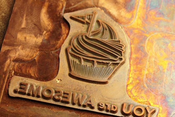 I chose a copper letterpress plate (vs. magnesium) for a higher quality imprint.
