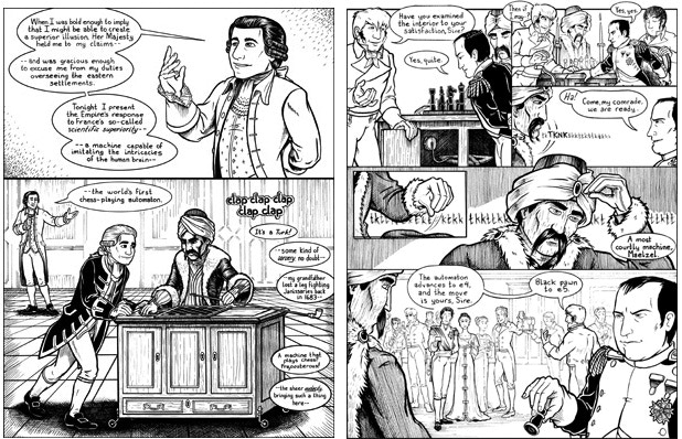 Sample pages from the comic -- click to read the entire book for free!