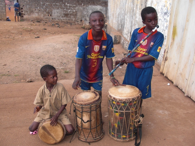 Percussion and flute