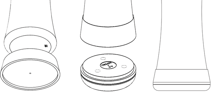 H2O-Pal can easily be attached at the base of the bottle. All connections are based on vacuum and magnets.