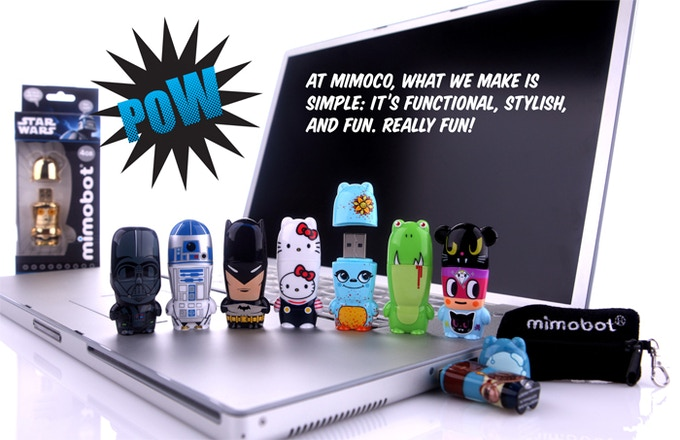 Our flagship product, MIMOBOT designer USB flash drives