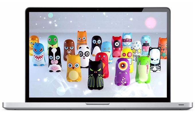 BatteryBot MimoDesk. Every pledge receives the MimoDesk suite of wallpapers, screensavers, and icons featuring the original BatteryBot characters!