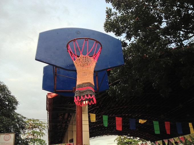 basketball peach hoop basket naismith craft works kickstarter james artists action instruction 1891 hall manual nets