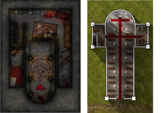 Church with Cult basement