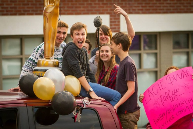 FHS Film Students in the 2013/2014 Homecoming Parade