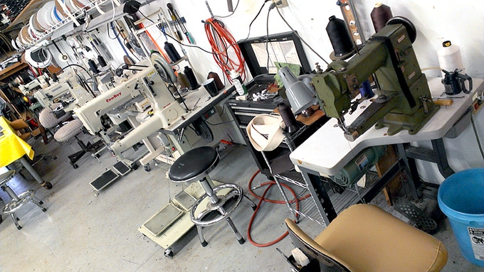 Just a few of the many sewing machines available.