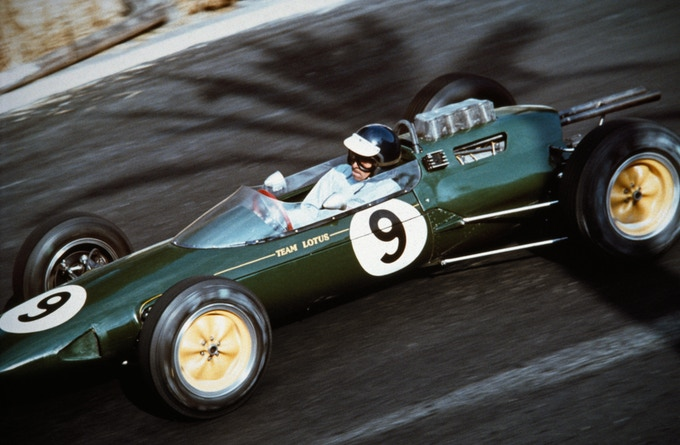 "Jim Clark in the Lotus-Climax, Monaco, 1963. *** 8.5"" x 11"" Archival Pigment Print ***"