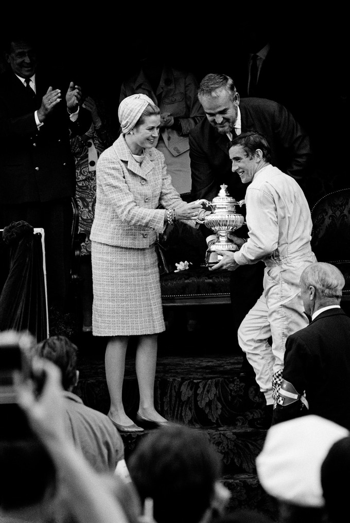 "Jackie Stewart on the podium, Monaco, 1966. *** 13"" x 19"" Archival Pigment Print***"