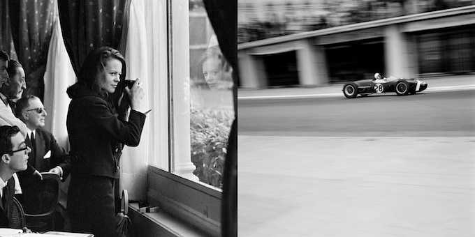 """Lady at Window / Stirling Moss in the Winning Lotus, Monaco,1966/1960. *** 17"""" x 22"""" Archival Pigment Print***"""
