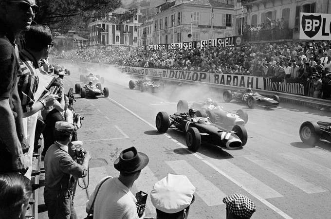 "Grand Prix of Monaco Start, Monaco, 1966.   ***Limited Edition Platinum Print 20""x24""***"