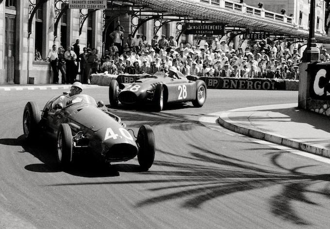 Virage De La Gare, Monaco, 1956. ***(Inside) Notecard image***