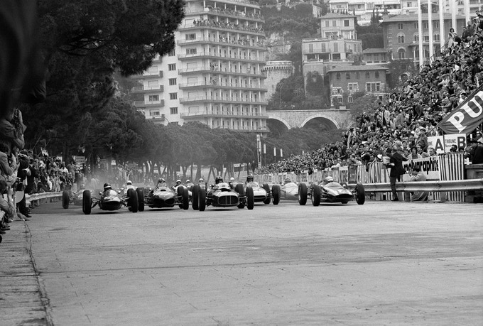 Grand Prix of Monaco Start, 1962.***(Front) Notecard image***