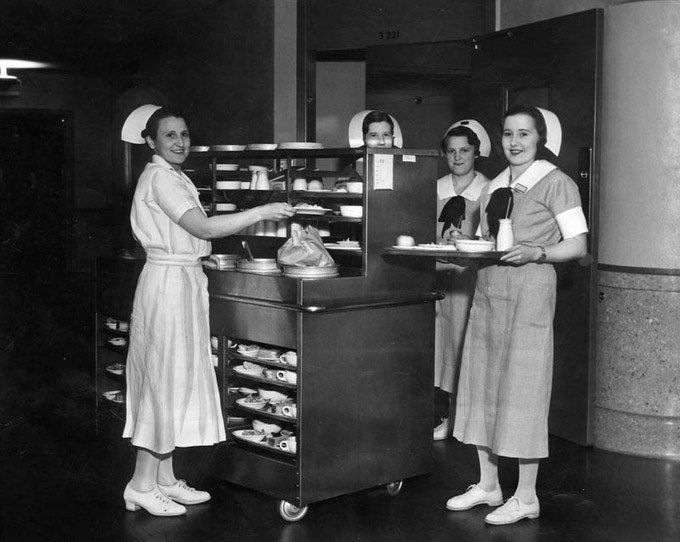 Nurses at the Los Angeles County Hospital in 1934, just before the outbreak