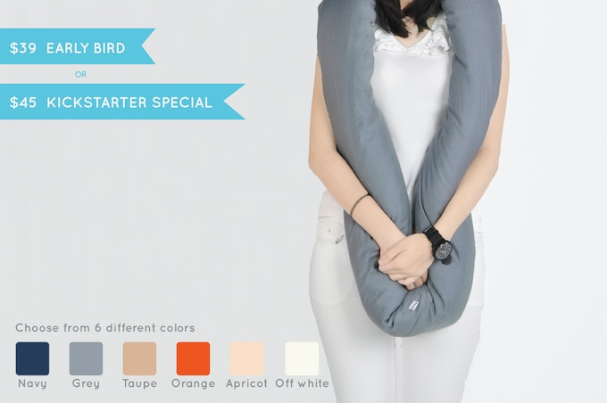 EARLY BIRD or KICKSTARTER SPECIAL: Get one Infinity Pillow and choose among six colors.