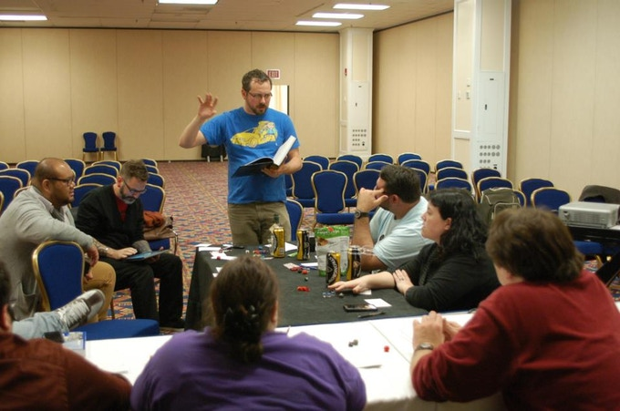 Playing DCC RPG at the 2013 Popular Culture Association Conference