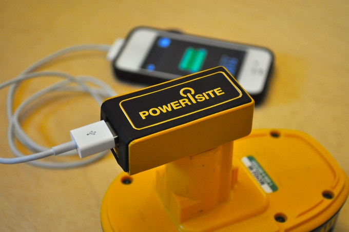 PoweriSite 3-d printed model. Simulated Charging.
