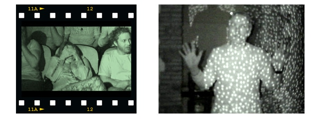 Theatre application for audience reactions and Kinect tracking dots