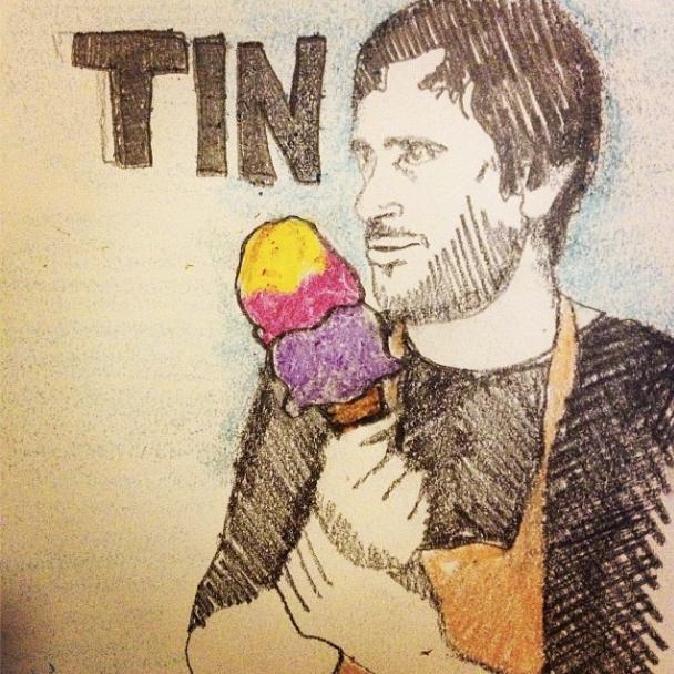 Tin eats pb&j ice cream!