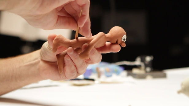 Making Morph: each Morph puppet is sculpted by hand out of clay.