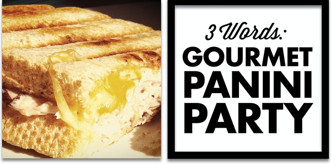 Panini sandwiches served by the cast & crew