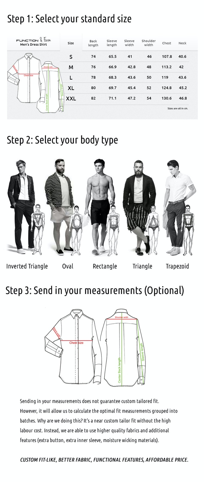 +Add Functionality to your Dress Shirts by Function and