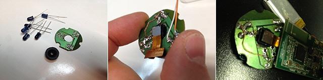 Camera sensor, lens, infrared leds: work in progress!