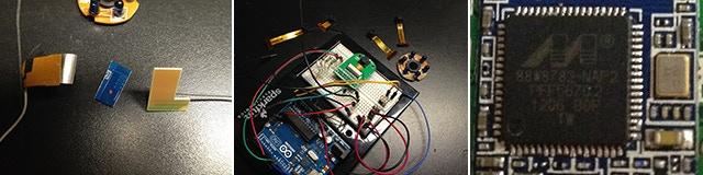 Antenna prototypes, camera sensor testing with Arduino, the wifi chipset