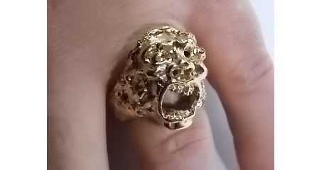 Add £6 to your pledge to make the metal ring GOLD plated.
