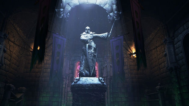 Statue of Einor Rudvaar, the legendary Wyrmslayer [ Click to enlarge]