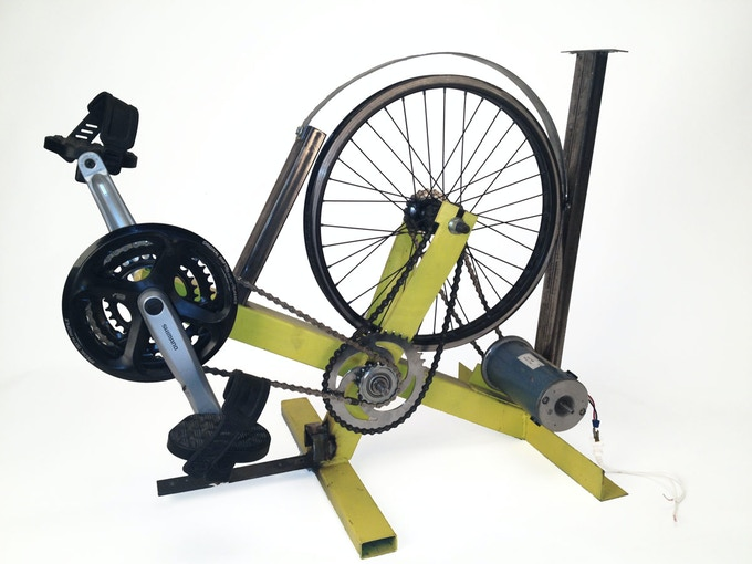 The Pedal Genny (with an electric generator)