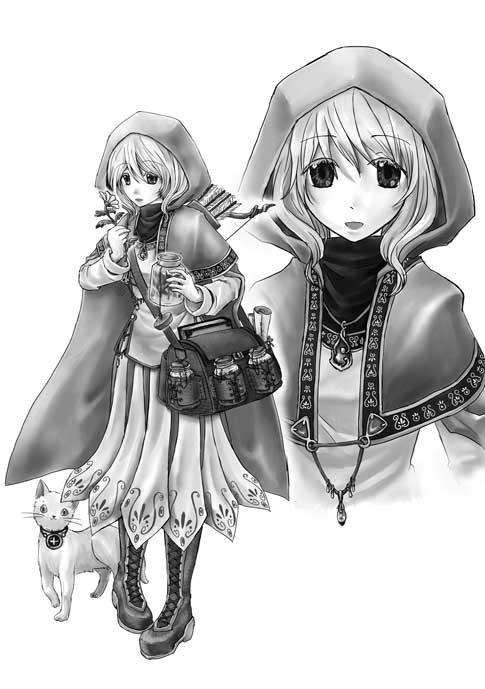 Ruru the Healer, the first Ryuutama character Toyuki Mizusaka played!