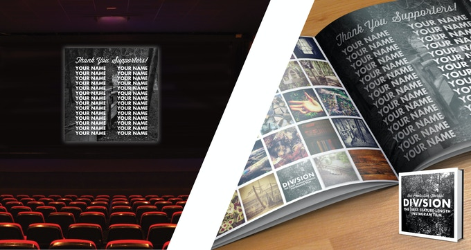 Every supporter will be thanked in the credits & in our printed production journal