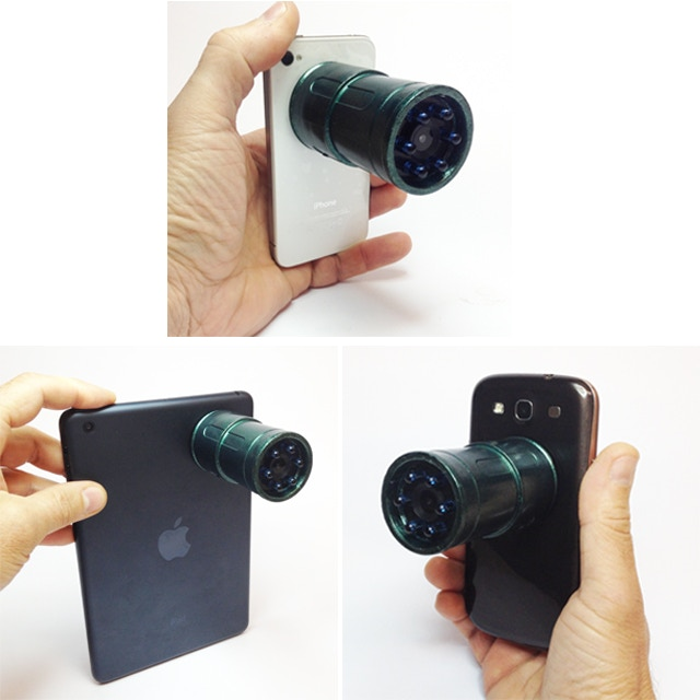 Snooperscope can be can be attached to any smartphone or tablet with a special magnet