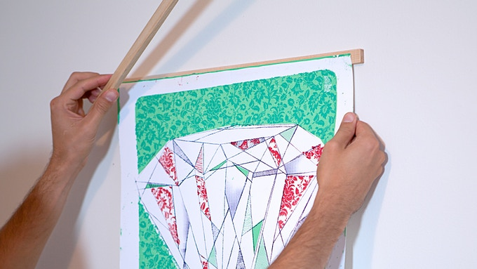 Simply center your artwork and drop the other Stiick into place.