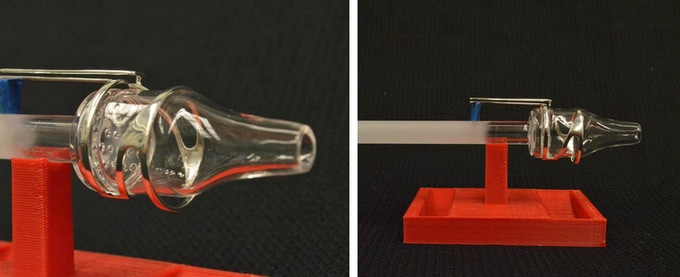 Plasma liner and RF antenna.  The plasma liner is made out of a high purity quartz to contain the plasma and gas propellant while the RF antenna ionizes the propellant into super heated plasma.