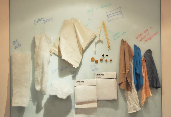 Our material inspiration board half way through the design process.