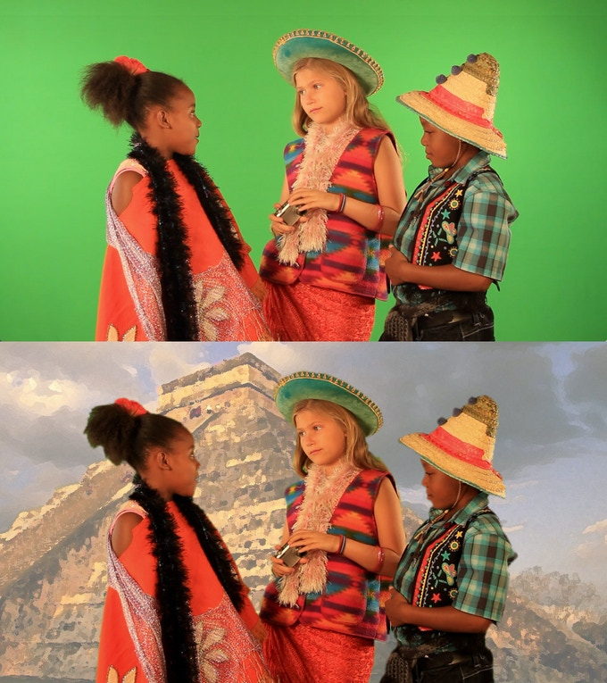 Shooting green-screen allows our Garden of Tomorrow Pen Pals to visit interesting cultures around the world.