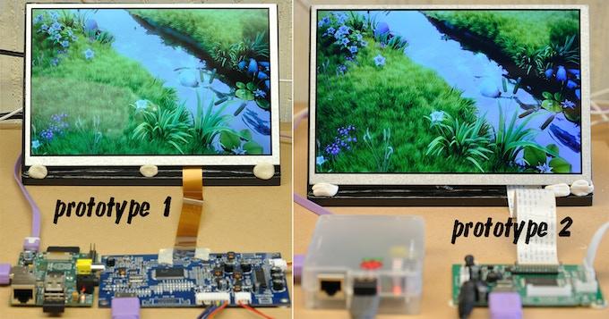 Both HDMIPi 1280x800 prototypes