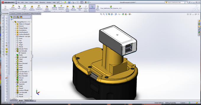 CAD to build produciton parts and 3-D printed prototypes.