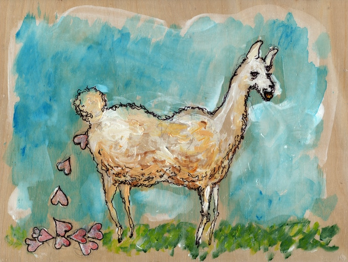 One of the many pieces that will be in the book. What Llamas Poop.