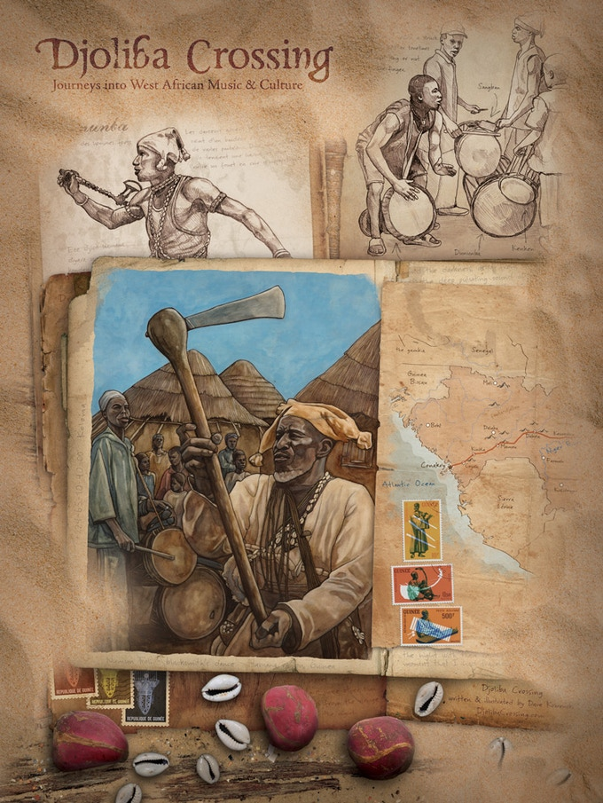 "Limited Edition 18""x24"" Djoliba Crossing poster"