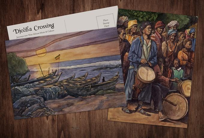 Postcards of Dave Kobrenski's watercolor paintings