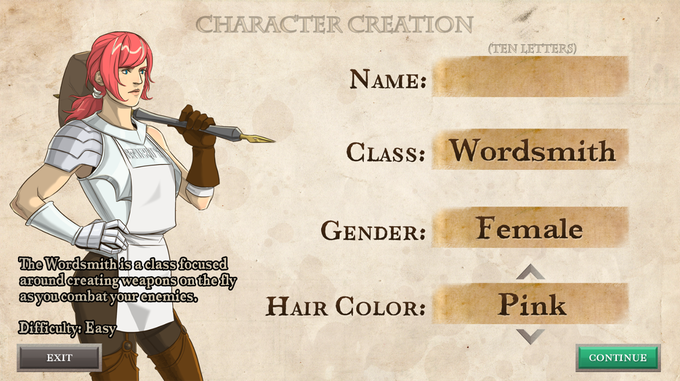 Character Creation at its finest.