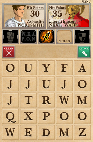 A screen of the mobile version's battle board.