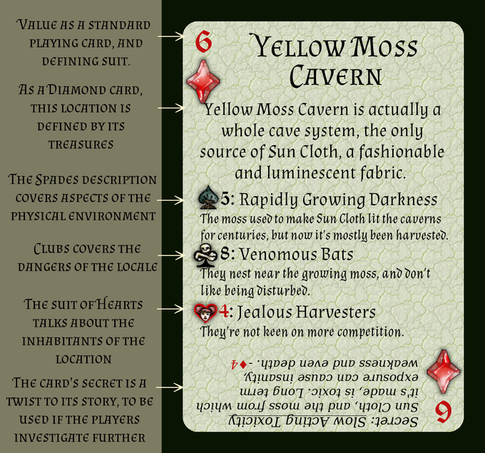 Yellow Moss Cavern is a sample from the deck