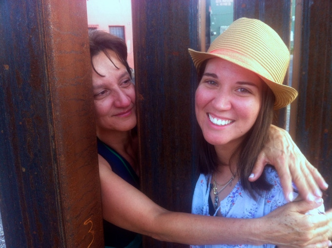 After six years of separation, Evelyn saw her mother through the Arizona-Mexico border fence in June 2013.