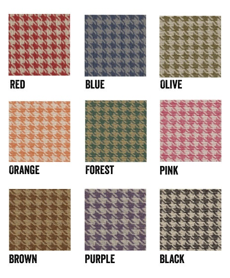 Houndstooth swatches in nine colors